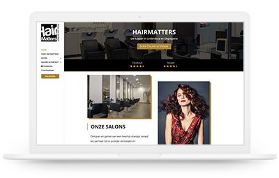 Hairmatters website design