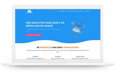De Luistercompagnie website design