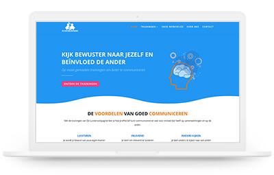 De Luistercompagnie website design